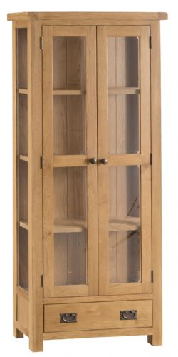 Cornish Oak Display Cabinet